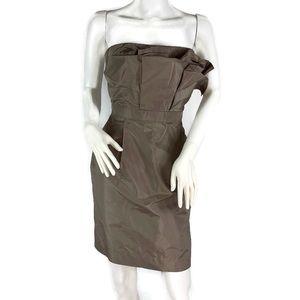 Jcrew Mika Dress Taffeta Strapless Dress